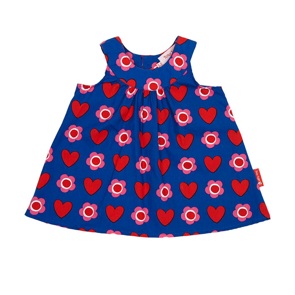 Heart Flower Baby Dress & Pants Set