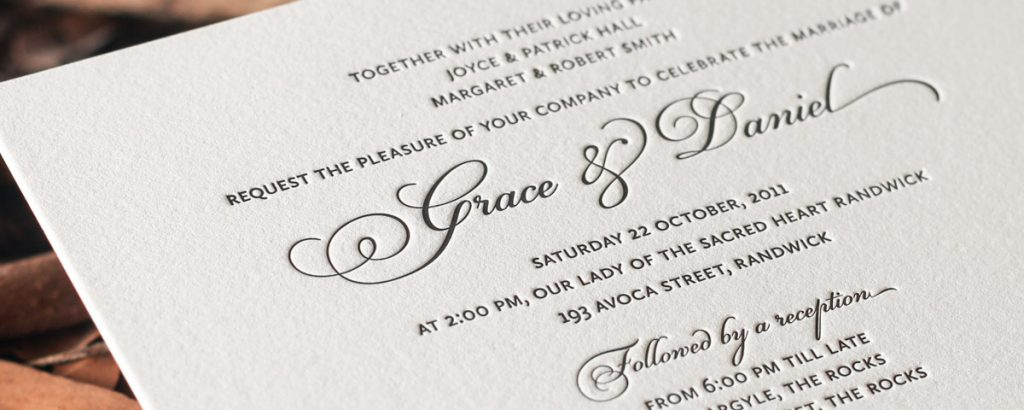 A Guide to Letterpress Wedding Invitations in Australia
